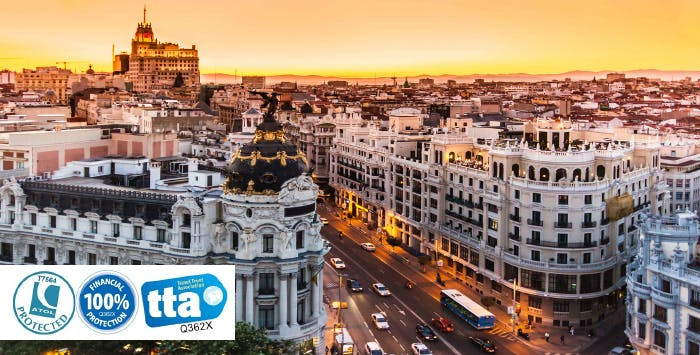 £299 per person for 3 Nights in Madrid with Return Flights - Low Deposit Required