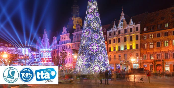 £210 for 3 Nights in Wroclaw with Return Flights - Low Deposit Required