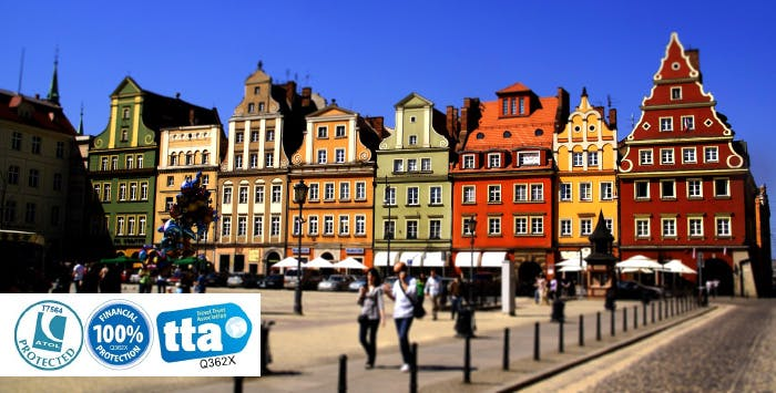 £199 for 3 Nights in Wroclaw with Return Flights - Low Deposit Required