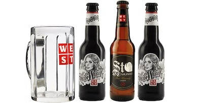 £10 for a WEST Gift Pack including 3 Bottles of Beer + Signature Branded Tanker