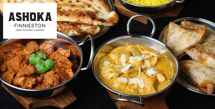 Takeaway indian meal for Ashoka indian cuisine menu