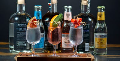 £25 for a Gin Flight + Nibbles for 2