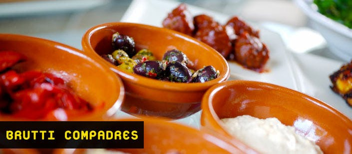 £22 for 5 Small Sharing Plates, Glass of Cava Each + Bread & Oil for 2