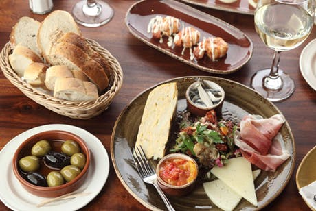 £24 for 5 Spanish Tapas + 2 Desserts to Share for 2