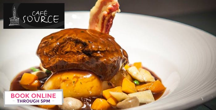 £13 for a 2 Course Meal + Wine for 1