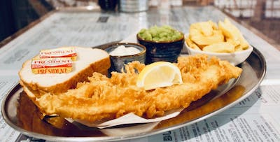 £20 for a Sit-In Fish Supper with Sides, Pot of Tea + Dessert for 2