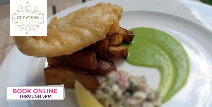 2 Course Meal + Bottle of Wine for 2; from £25