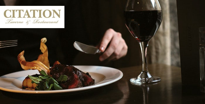 2 Course Meal + Wine for 2 - 5pm.co.uk