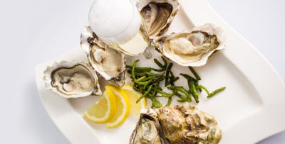 £24 for Oysters + House Champagne to Share between 2