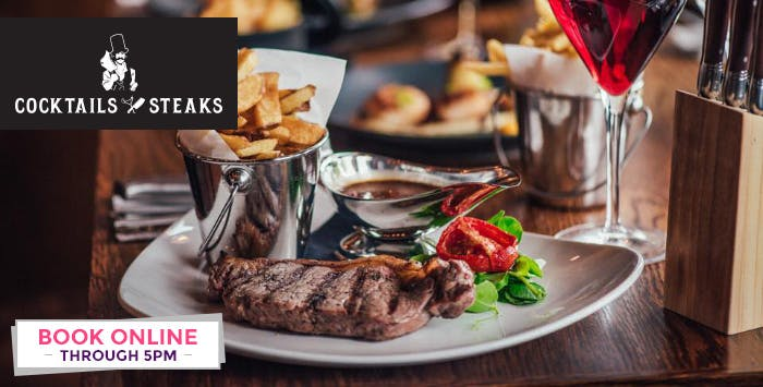 £14.95 for a Steak + Cocktail for 1