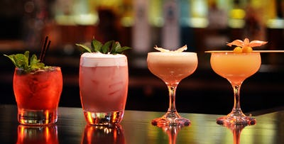 £14 for 4 Cocktails + Bar Nibbles to Share for 2
