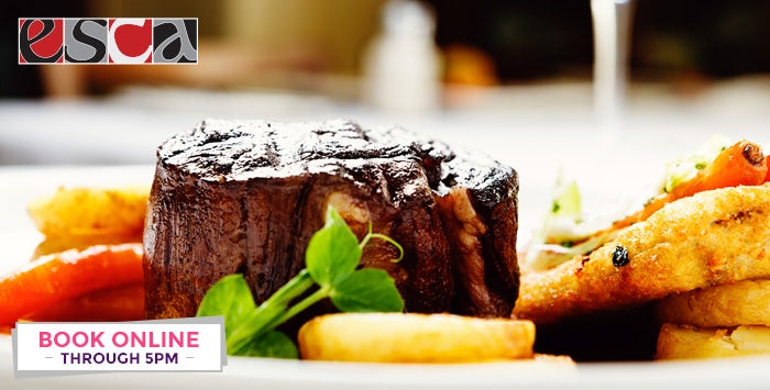 £29 for a Fillet Steak with Side & Sauce + Drink for 2