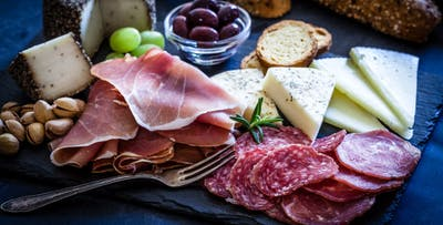 £9.75 for a Choice of Sharing Board + 2 Glasses of Wine