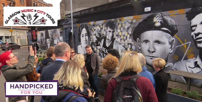 £26 for a Guided Walking Tour of Glasgow's Music Scene for 2