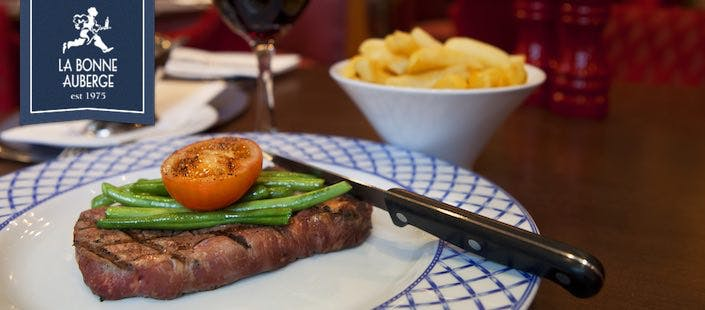 £9.95 for Steak Frites + Wine for 1