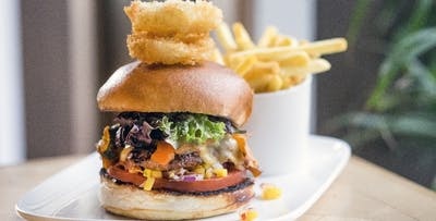 £25 for a Burger + Pint of Apache or Glass of Wine Each for 2
