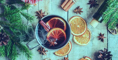Festive Afternoon Tea + Mulled Wine for 2 or 4; from £19