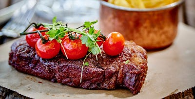 £30 for Steak Frites + Bottle of Wine for 2