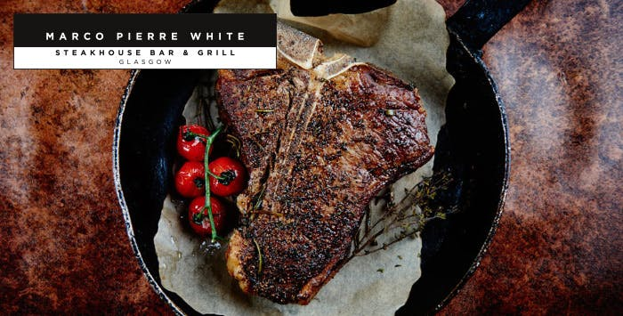 £49 for a 32oz T-Bone Steak to Share + Glass of Fizz for 2