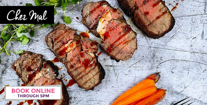£29 for a 4 Course Sunday Lunch for 2 at Chez Mal