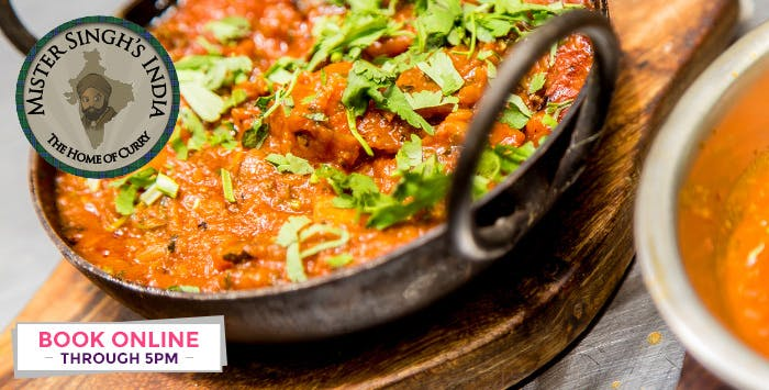 £25 for Taste of India Menu for 2