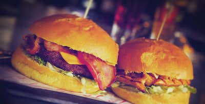 £8 for a Burger + House Fries for 2. £15 for a Burger, House Fries + Cocktail Each