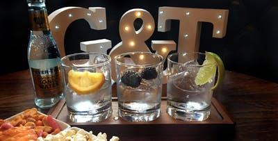 £10 for a Boë Gin Flight + Nibbles for 1