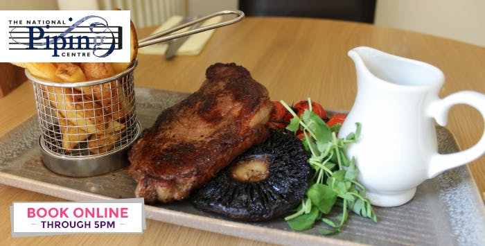 £29 for Ribeye Steak with Sides & Sauce + Bottle of Wine for 2