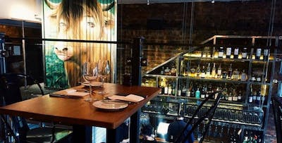 £49 for 10oz Sirloin Steak, Sauces, Sides + Wine for 2
