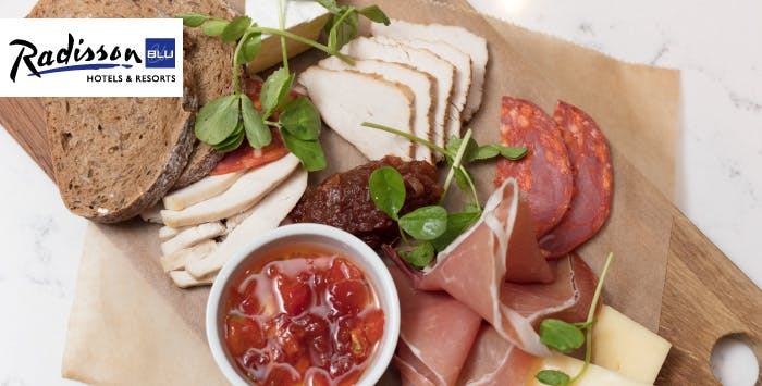 £14 for a Charcuterie Platter with Wine for 2