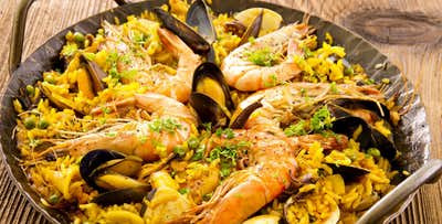 Paella or Tapas + Wine for 2; from £19