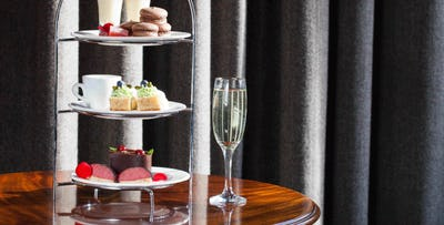 Afternoon Tea with Rhubarb Kir Cocktail for up to 4, from £24