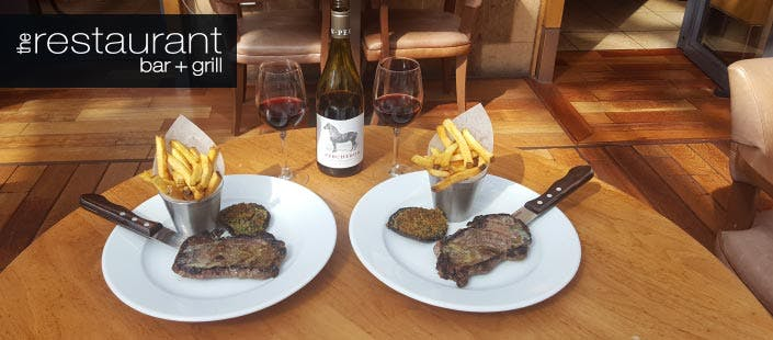 £28 for Sirloin Steak + Bottle of Wine for 2