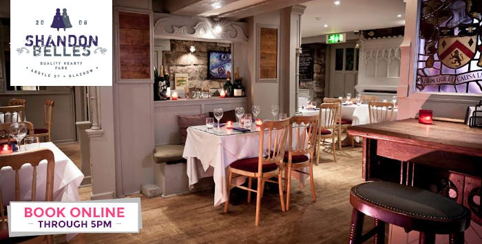£10 for a Main Course + Wine & Tea/Coffee