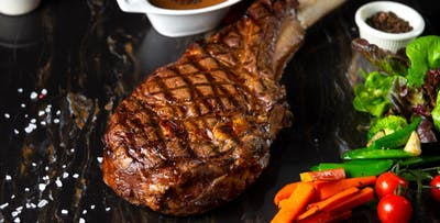 £35 for Côte de Boeuf with Sides, Sauce & Bottle of Wine for 2