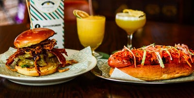 Burger or Hotdog + Cocktail for 2 or 4, from £16.90