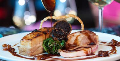 2 Course Meal for 2 People + Option of Wine, from £15