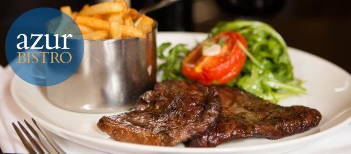 £18 for a Steak Frites + Carafe of Wine for 2