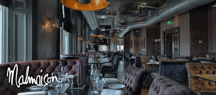 £25 for £50 Food Spend at Malmaison Glasgow, Edinburgh or Dundee