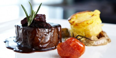£29 for a 2 Course Dinner with Wine for 2