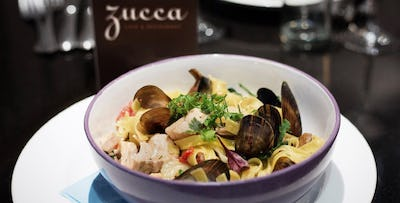 Pizza, Pasta or Risotto Dish + Dessert Each for 2 or 4, from £21