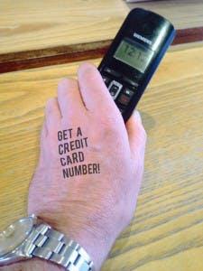 waiter tattoo