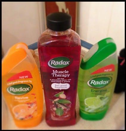 Radox shower gel and bath