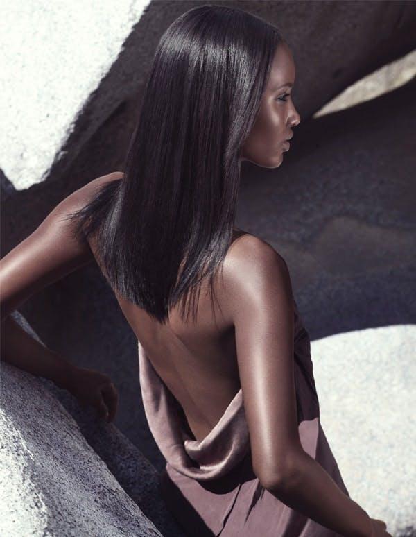 aveda straight hair model two