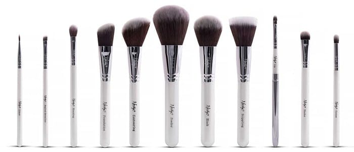 Nanshy masterful collection white brushes