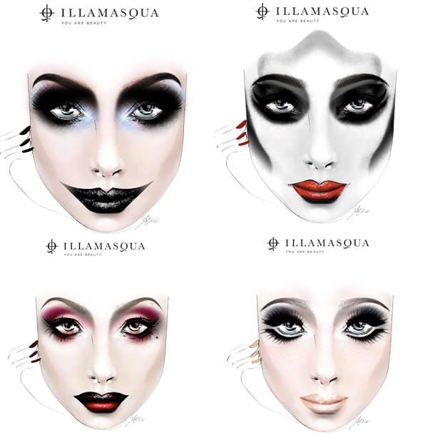 illamasqua halloween faces two