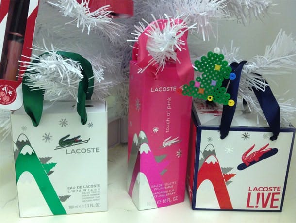 tree gifts lacoste xmas
