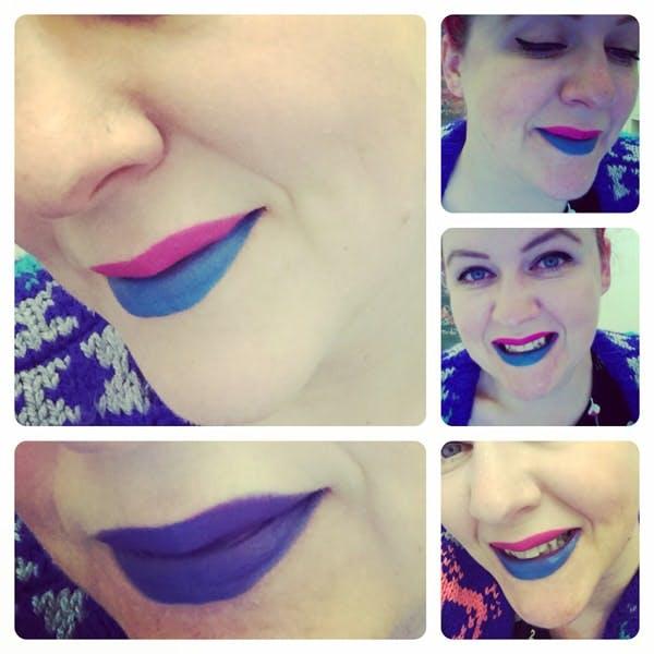 Blue Lipstick anyone?