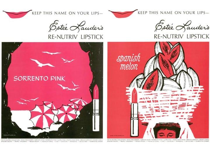 Estee Lauder Vintae Lipstick Adverts
