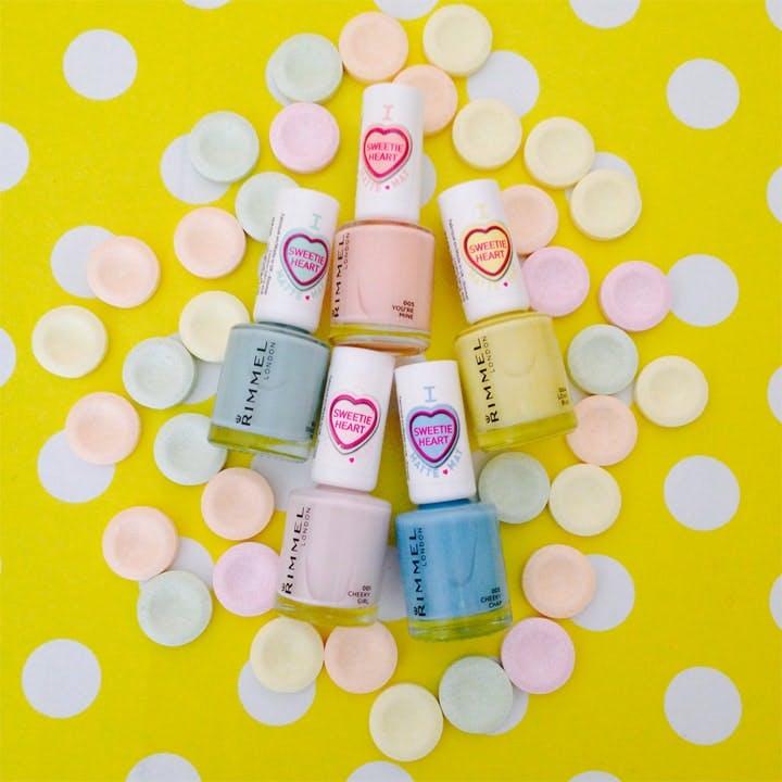 Rimmel Sweetie Heart Matte Pastel Nail Colours